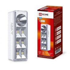 Светильник светодиодный аварийный СБА 2207DC 6+1LED 1.0Ah lithium battery DC 4690612029559 IN HOME