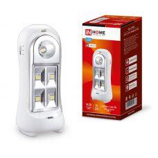 Светильник светодиодный аварийный СБА 2215DC 4+1LED 600mAh lithium battery DC 4690612029542 IN HOME