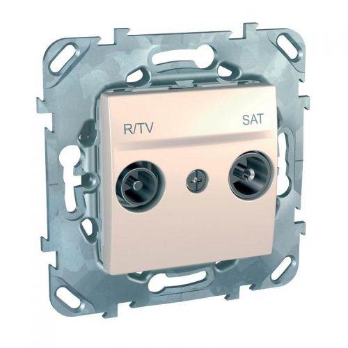 Механизм розетки R TV/SAT, одиночная, бежевый, Unica, арт. MGU5.454.25ZD, Schneider Electric