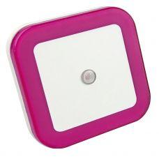 Ночник светодиодный NLE 03 SP DS КВАДРАТ розовый с датчиком освещения 230В IN HOME