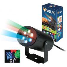 Светодиодный светильник проектор ULI Q306 4W/RGB BLACK SNOWFLAKE/Рождество