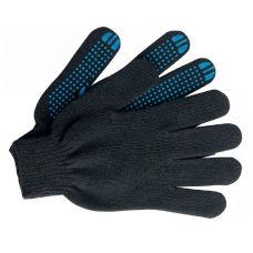 Перчатки х/б с покрытием ПВХ, 5 нитей, черные