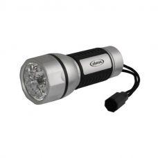 Фонарь Облик 5043 ручной, 3 LED, 3xAA, черно серебристый, пластик