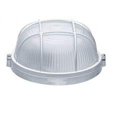Светильник Round WP 60 01 01 малый для бани/сауны, 60 Вт, IP54, 1хЕ27, круглый с решеткой, белый