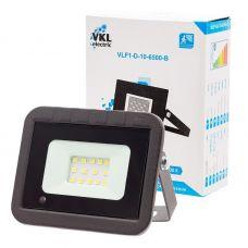 Прожектор светодиодный 10Вт 6500К с датчиком движения VLF1 D 10 6500 B IP65 черный VKL Electric