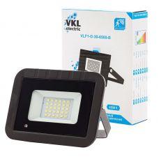 Прожектор светодиодный 30Вт 6500К с датчиком движения VLF1 D 30 6500 B IP65 черный VKL Electric