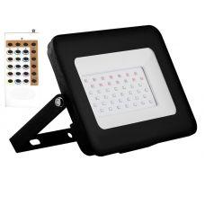 Прожектор светодиодный 20Вт RGB с пультом управления LL 611 IP65 29701 FERON