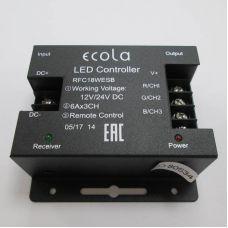 Контроллер для ленты RGB, 18 А, сенсорный радиопульт черный, 216/432 Вт, 12/24 В, RFC18AESB, Ecola