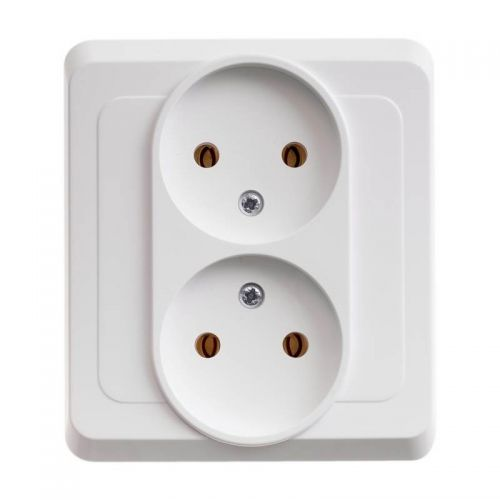 Розетка двойная без з/к, СУ, 16А, белая, ЭТЮД, арт. PC16 005B, Schneider Electric