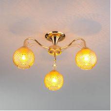 Потолочная люстра со стеклянными плафонами 30139/3 золото Eurosvet