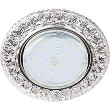 Светильник GX53 H4 LD7009 FT53CCEFB искристый с подсветкой Кристалл, Прозрачный/Хром, Ecola