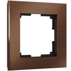 Рамка на 1 пост (коричневый алюминий), артикул WL11 Frame 01, Werkel