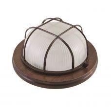 Termo 100 01 16 Светильник круглый с решеткой для бани/сауны, IP54, 150 Вт, 1хЕ27, цвет венге, рабочая температура до +130C