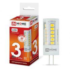 Лампа светодиодная IN HOME LED JC VC G4 12V 3W 6500K 270Лм 4690612019802