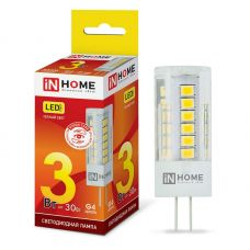 Лампа светодиодная IN HOME LED JC VC G4 12V 3W 3000K 270Лм 4690612019789