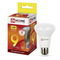 Лампа светодиодная IN HOME LED R63 VC 9W Е27 3000К грибок 720Лм 4690612024301