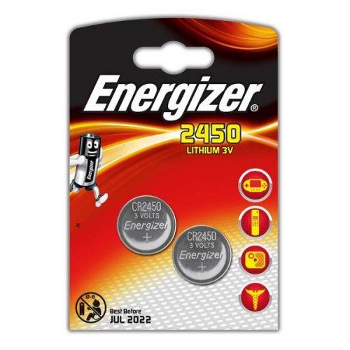 Батарейка Energizer Lithium CR2450, уп/2 шт, цена за упаковку
