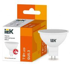 Лампа светодиодная IEK MR16 софит 7Вт 3000К GU5.3 230В 630Лм LLE MR16 7 230 30 GU5