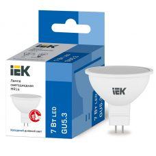Лампа светодиодная IEK MR16 софит 7Вт 6500К GU5.3 230В 630Лм LLE MR16 7 230 65 GU5
