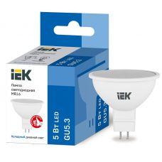 Лампа светодиодная IEK MR16 софит 5Вт 6500К GU5.3 230В 450Лм LLE MR16 5 230 65 GU5