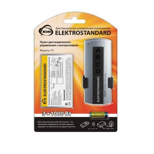 Пульт управления светом Y7, 1 приёмник, 3 канала*1000 Вт, ELEKTROSTANDARD