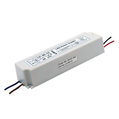 Блок питания герметичный 40Вт 12В 3,33А IP67 пластик, арт. 000274, LV 40 12, SWG