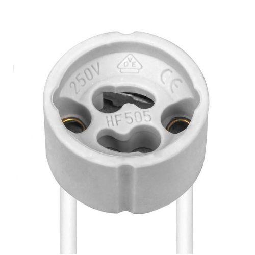 Патрон GU10 с проводами, керамический, Feron LH32, арт. 22312