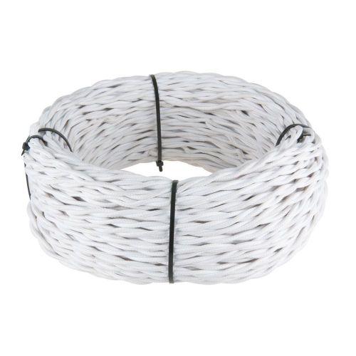 Ретро кабель витой 2х0,75 мм² (белый)