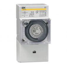 Таймер освещения ТЭМ181, 16 А, 230 В, 24 вкл/сутки, интервал 30 мин., на DIN рейку, MTA20 16, IEK