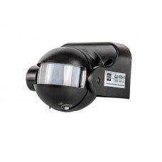 Датчик движения ДД 009 B, 1200 Вт, угол обзора 180 гр., дальность 12 м, IP44, черный, 4690612001890, LLT