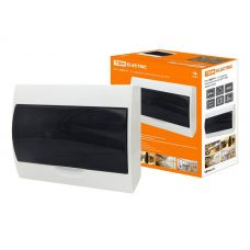 Корпус навесной ЩРН П 12, IP41, пластик, белый, прозрачная дверь, SQ0901 0004, TDM Electric