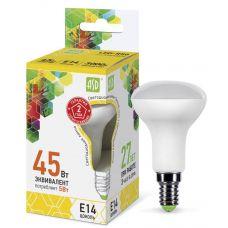 Лампа светодиодная LED R50 econom, 5 Вт, 3000 К, E14, 400 лм, матовая, 230 В, ASD