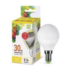 Лампа LED ШАР standard, 3.5 Вт, 3000 К, Е14, 320 лм, матовая, 230 В, ASD