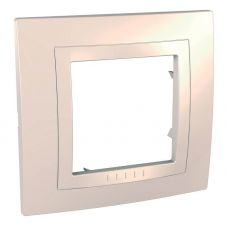 Рамка 1 постовая, моноблок, бежевая, UNICA, арт. MGU2.002.25M, Schneider Electric
