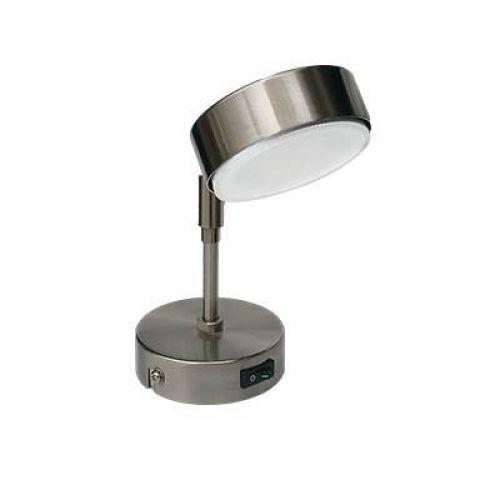 Светильник Ecola GX53 FT4173, поворотный на среднем кронштейне, Сатин хром, арт. FS5341ECB