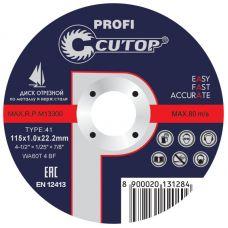 Проф. диск отрезной по металлу и нержавеющей стали Т41 115 х 1,0 х 22,2 мм     Cutop Profi