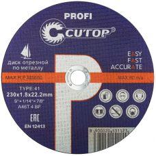 Проф. диск отрезной по металлу и нержавеющей стали Т41 230 х 1,8 х 22,2 мм     Cutop Profi
