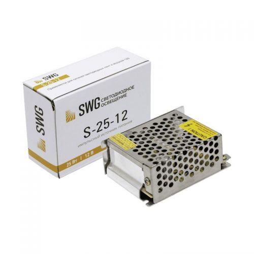 Блок питания для светодиодной ленты (сетка) 12V 25W 2А IP20, арт. 000111, модель S 25 12, SWG