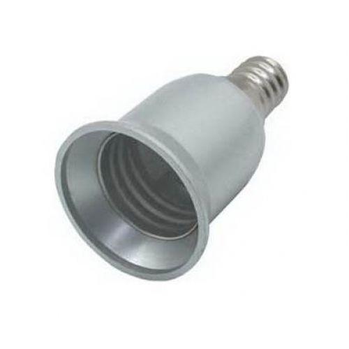 Переходник с цоколя E14 на E27, Ecola base, серебряный, арт. A4T17SEAY