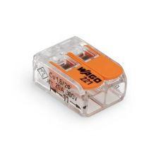 Клемма 2 проводная 221 412 с рабочими рычагами, сечение 0,14/0,2 4 мм², прозрачная, WAGO