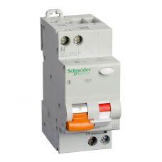 Выключатель автоматический дифференциальный АД63 Домовой, 1P+N, C, 16 A, 30 mA, 11473, Schneider Electric