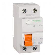 Выключатель дифференциальный (УЗО), ВД63 Домовой, 2P, 25 A, 30 mA, 11450, Schneider Electric