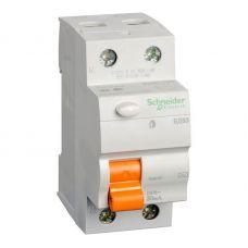 Выключатель дифференциальный (УЗО) ВД63 Домовой, 2P, 40 A, 30 mA, 11452, Schneider Electric
