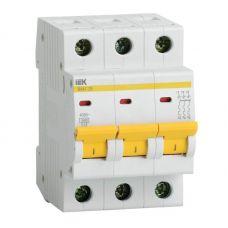 Автоматический выключатель 3P, C, 25 А, ВА47 29, 4.5 кА, MVA20 3 025 C, IEK