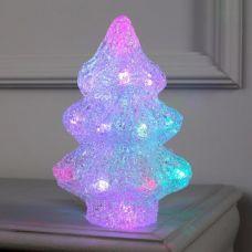 Фигура Елочка маленькая из акрила, размеры 21х7х7 см, 2хАА (не в компл), 20 LED, МУЛЬТИ (RGB), 5060075