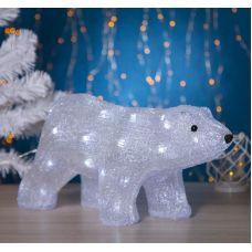 Фигура акрил. Медведь стоячий 45х15х23 см, контр. с диммером, 40 LED, 220V, 2310850