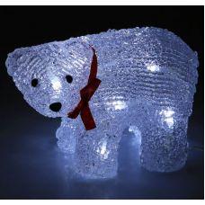 Фигура Медвежонок на батарейках из акрила, размеры 19х9х11 см, (АА*2 шт. не в компл.), 12 LED, 2315207