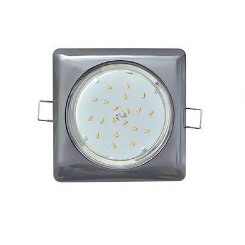 Светильник встраиваемый Ecola GX53 H4 Square, FB53S4ECB, квадратный, без рефл., Черный хром
