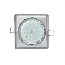 Светильник встраиваемый Ecola GX53 H4 Square, FC53S4ECB, квадратный, без рефл., Хром
