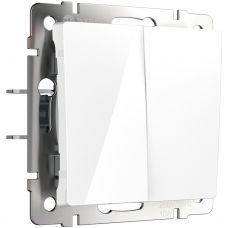 Выключатель  двухклавишный (белый) W1120001